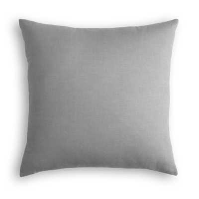 "Classic Linen Pillow, Cement, 22"" x 22"" - Havenly Essentials"