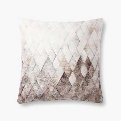 """Loloi PILLOWS P0872 Grey 22"""" x 22"""" Cover w/Poly - Loma Threads"""