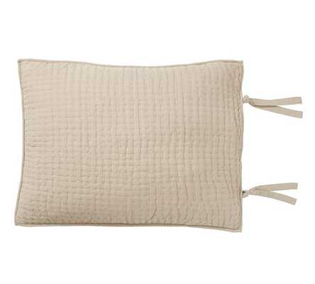 Pick-Stitch Handcrafted Sham, Standard, Flax - Pottery Barn