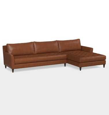 Hastings Chaise Sectional Leather Sofa - Rejuvenation