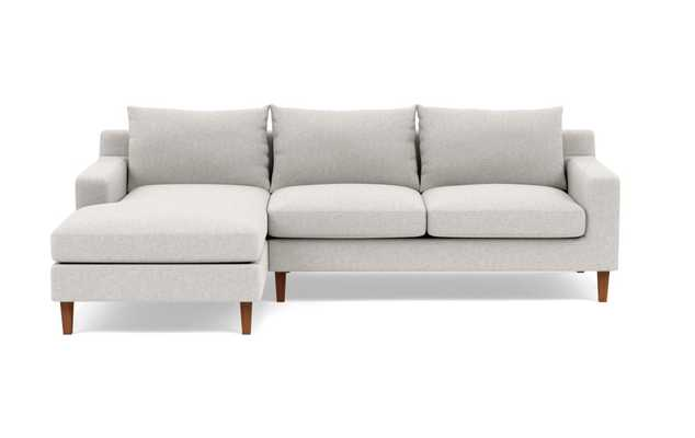 SLOAN Sectional Sofa with Left Chaise- Earth Cross Weave- 92'' - Interior Define