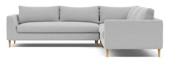 Asher Corner Sectional Sofa with natural oak tapered round legs - Interior Define