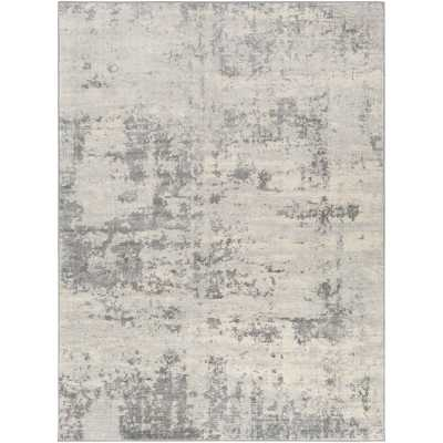 "Rectangle 6'7"" x 9'6"" Manzanares Abstract Beige/Gray/Blue Area Rug - Wayfair"