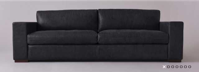 Aberdeen Leather Sofa -PARAGON LEATHER I CAST IRON - Sixpenny