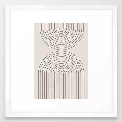 """Arch Art Framed Art Print, 22"""" x 22"""", Vector white frame - Society6"""