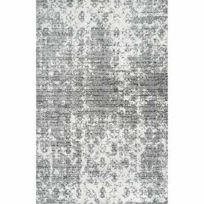 "Jakobe Cool Abstract Gray 8'10"" x 12' - Wayfair"