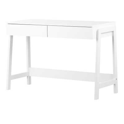 Liney Desk / White - Wayfair