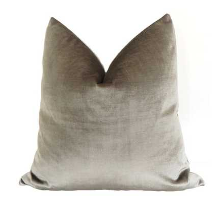 "Faux Silk Velvet // Quartz, 18"" Pillow Cover - Little Design Company"