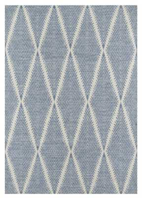 "ERIN GATES RIVER BEACON INDOOR/OUTDOOR RUG, DENIM - 7'6"" X 9'6"" - Lulu and Georgia"