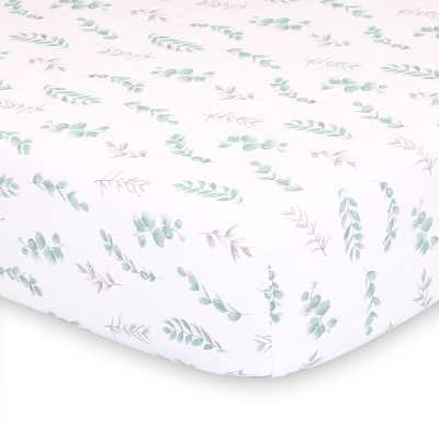Dingman Floral Leaves Fitted Crib Sheet - Wayfair