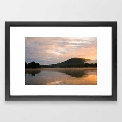 First Light (Sunrise on Lake George) Framed Art Print by Nancy A Carter - Society6