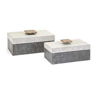 Parker Metal Boxes - Set of 2 - Mercer Collection