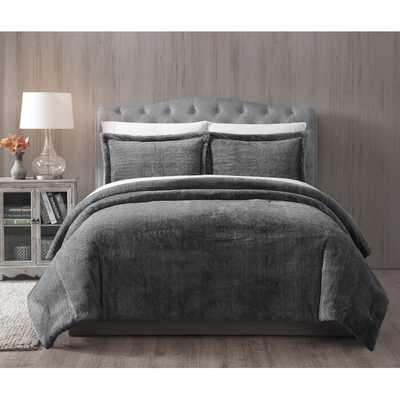Jame Faux Fur Reversible Comforter Set - Wayfair