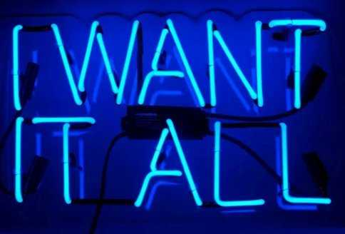'I Want It All' Neon Sign - Wayfair