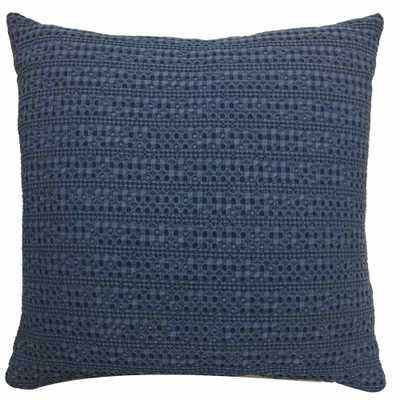 Square Washed Waffle Pillow Navy - Threshold - Target