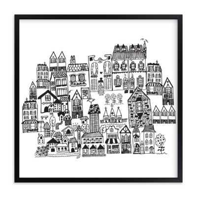 Little houses on a hillside - Minted