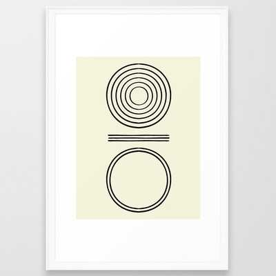 """Life Balace II Framed Art Print by Hellograce, Scoop White, 26"""" x 38"""" - Society6"""