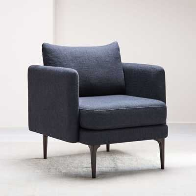 Auburn Chair, Twill, Black Indigo, Dark Mineral-Individual - West Elm