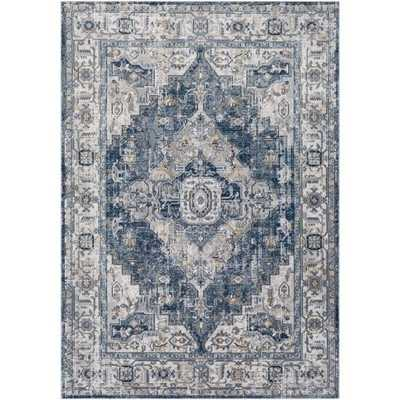 "Harper Rug, 5'3""x 7'3"", Black - Cove Goods"