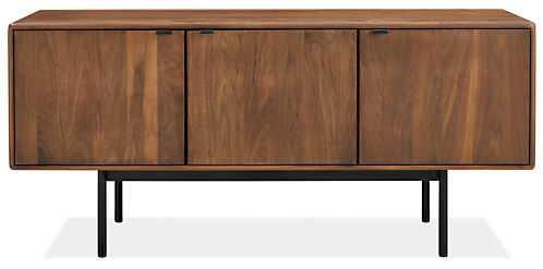Hensley 60w 18d 27h Media Cabinet Wood: Walnut Base: Graphite Hardware: Black - Room & Board