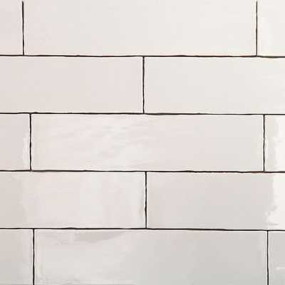 Splashback Tile Catalina White 3 in. x 12 in. x 8 mm Ceramic Wall Subway Tile - Home Depot
