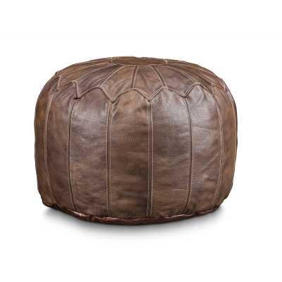 Finnell Leather Pouf - Wayfair