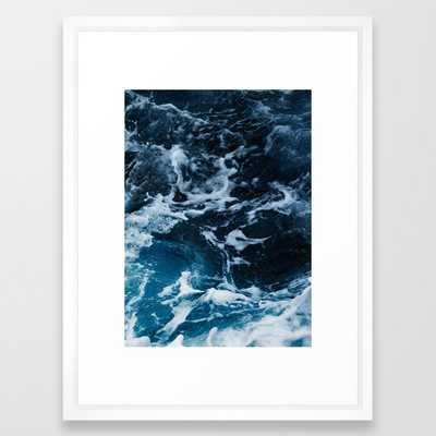 ocean, sea, blue print, blue art, photography, Framed Art Print - Society6