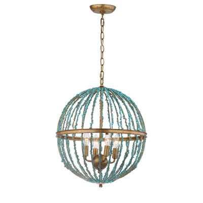 Rahman 4-Light Candle Style Globe Chandelier - AllModern