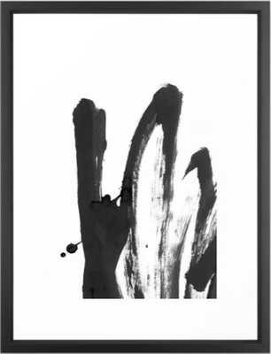 """""""b+w strokes 4"""" framed art print,  medium(gallery) 20""""x26"""" - vector black frame - Society6"""