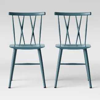Set of 2 Becket Metal X Back Dining Chair - Target