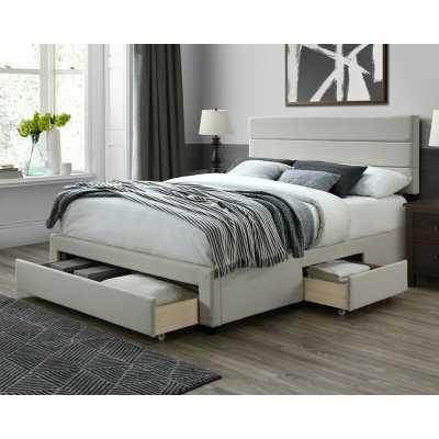 Desoto Upholstered Storage Standard Bed - Beige - King - Wayfair
