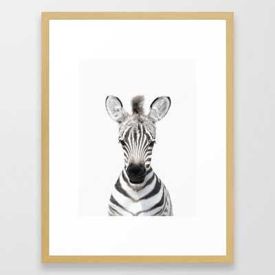 Baby Zebra, Baby Animals Art Prints by Synplus Framed Art Print - Society6