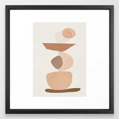 "Balancing Elements II Framed Art Print, Medium 22"" x 22"", Vector Black Frame - Society6"
