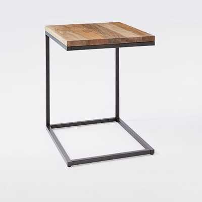 Box Frame C-Side Table, Raw Mango/Antique Bronze - West Elm