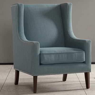 Agnes Wingback Chair Blue - Wayfair