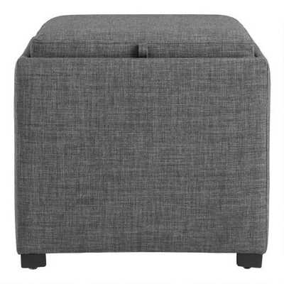 Square Ryan Modular Storage Ottoman With Tray Top - World Market/Cost Plus