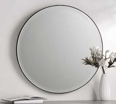 "Madalyn Round Beveled Edge Wall Mirror - 36"" - Pottery Barn"