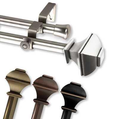 Anferney Double Curtain Rod & Hardware Set - Birch Lane
