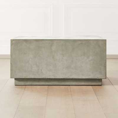 Matter Grey Cement Square Coffee Table - CB2