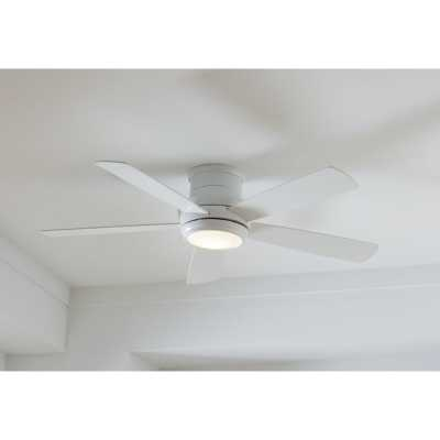 """52"""" Jaron 5 -Blade Outdoor LED Standard Ceiling Fan with Remote Control and Light Kit Included - AllModern"""