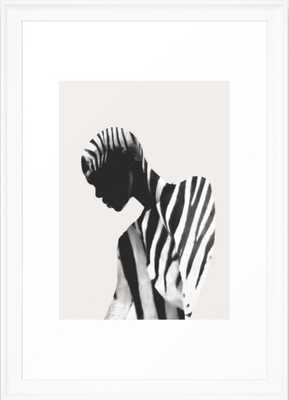 Zebra Framed Art Print - Society6