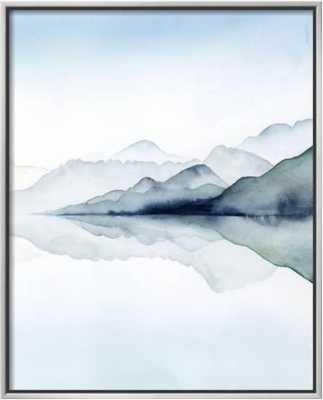 Glacial II - Framed Canvas - art.com