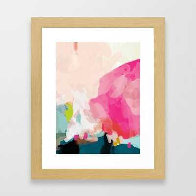 pink sky Framed Art Print, Vector White Frame - Society6