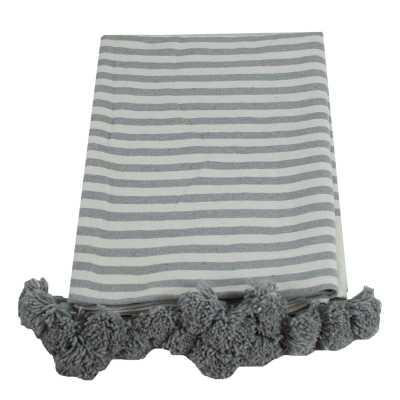 Juno King Pom Pom Cotton Blanket - Wayfair