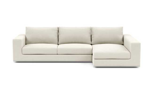 WALTERS Sectional Sofa with Right Chaise/ Chalk - Interior Define