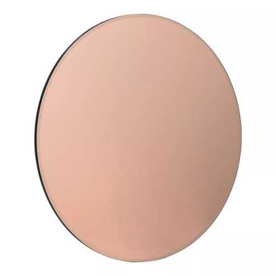 """26"""" Azalea Tinted Frameless Round Wall Mirror Rose Gold - Kate and Laurel - Target"""