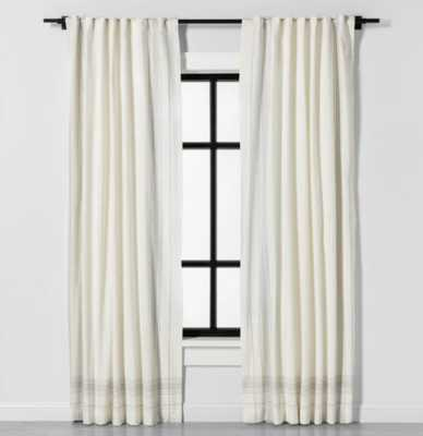Curtain Panel Engineered Plaid Sour Cream - Hearth & Hand™ with Magnolia - Target