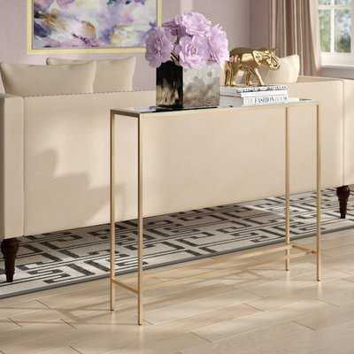 Romaine Console Table with Mirrored Top - AllModern
