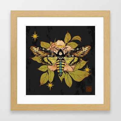 Death's Head Hawk Moth Framed Art Print - Society6