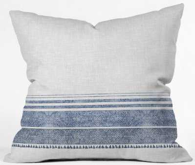 FRENCH LINEN CHAMBRAY TASSEL Throw Pillow Cover // 18x18 - Wander Print Co.